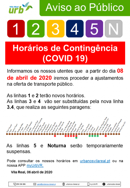 Contingency Schedules (COVID 19)